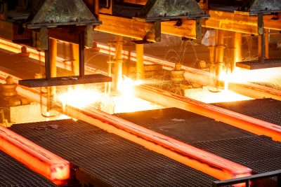 Industrial magnets steel mill